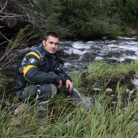 British Superbike racer Leon Haslam checking out the Victorian bush.