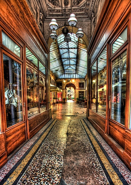 Paris shopping arcade HDR