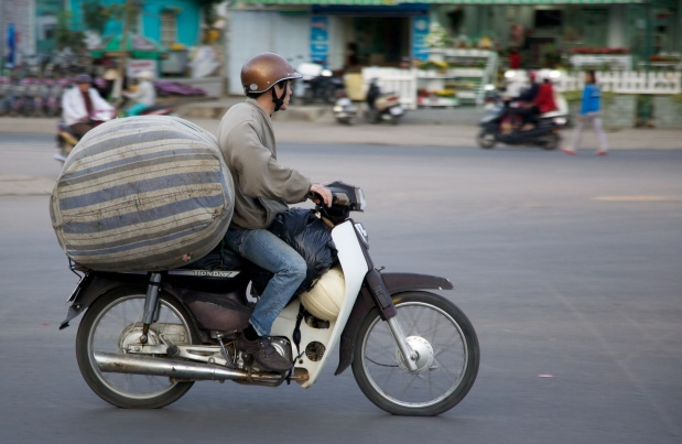Laden scooter