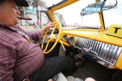Open-top taxi