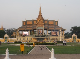 Phnom Penh during the festivities around the King's funeral.
