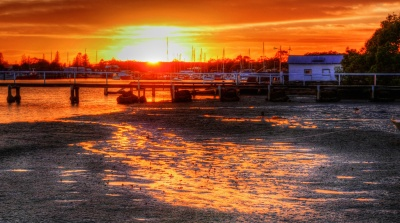 A combination of three images to produce and interesting HDR. Tripod, Leica D-LUX, Photomatrix Pro.